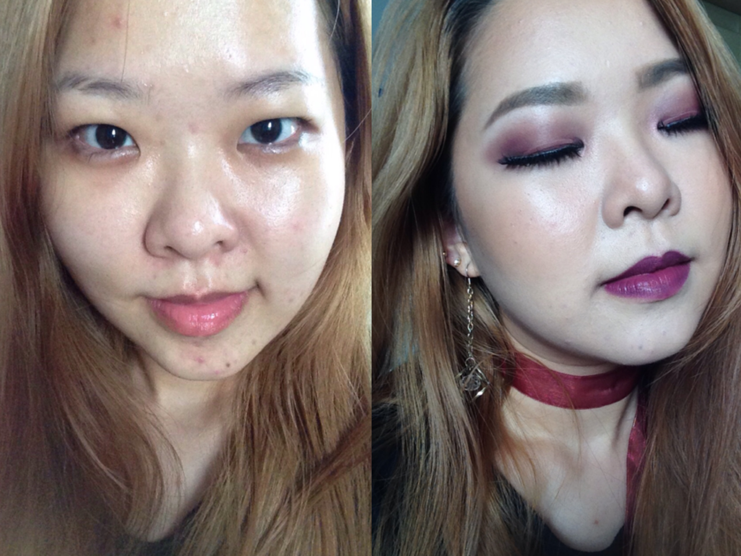 Fall Makeup (One color: Burgundy) TUT