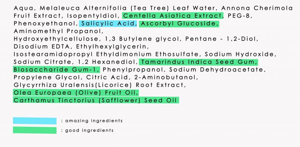 ingredients review  scarlett serum acne